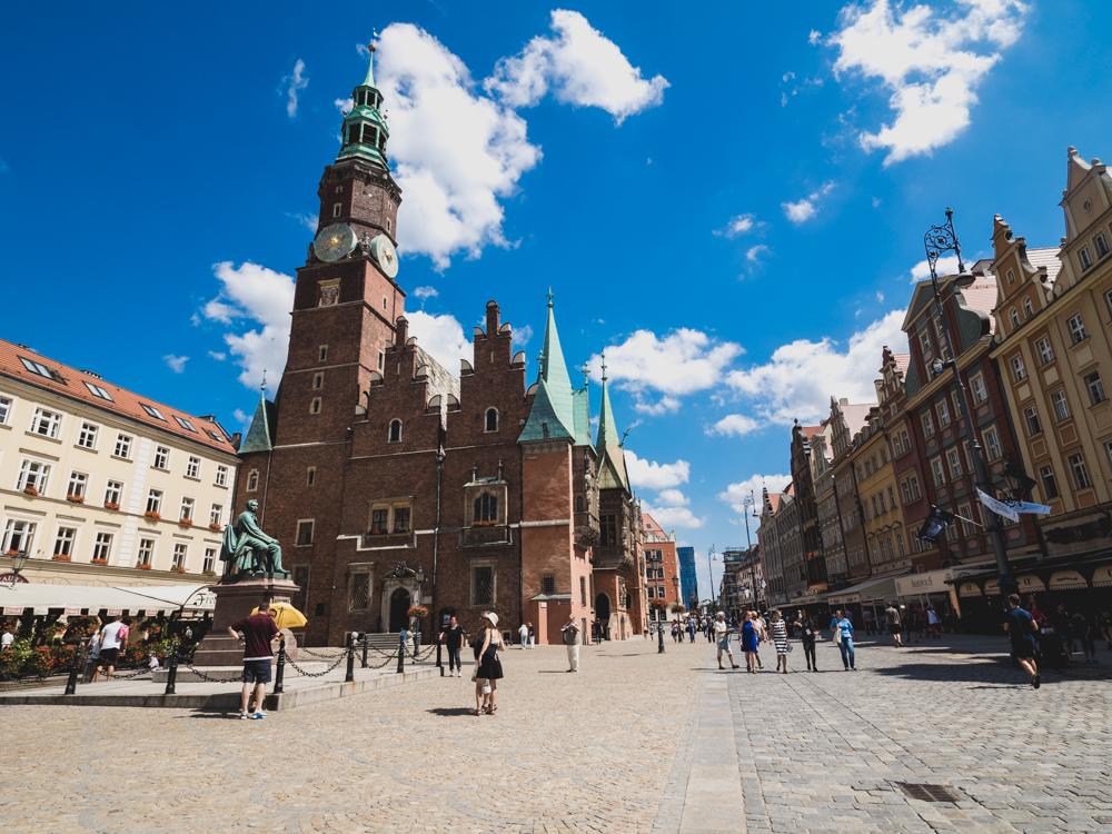 Das Rathaus in Wroclaw