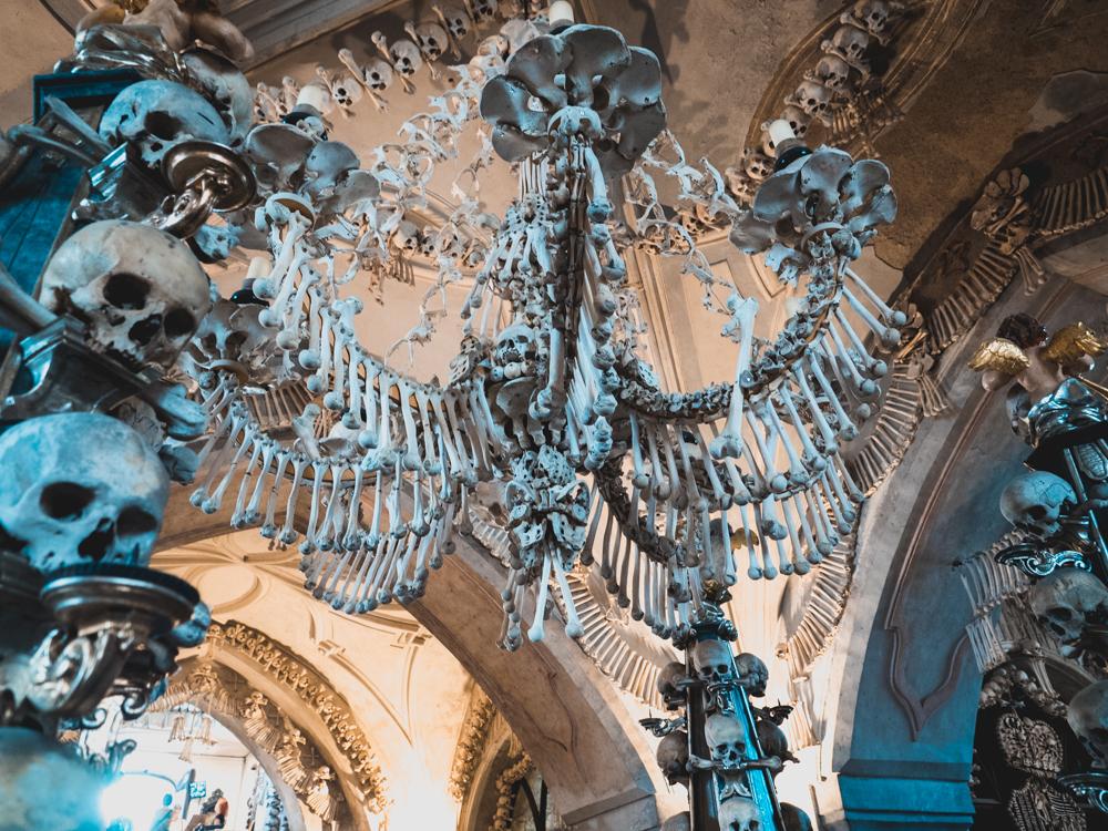 Die Knochenkirche in Kutna Hora. Unheimlich!