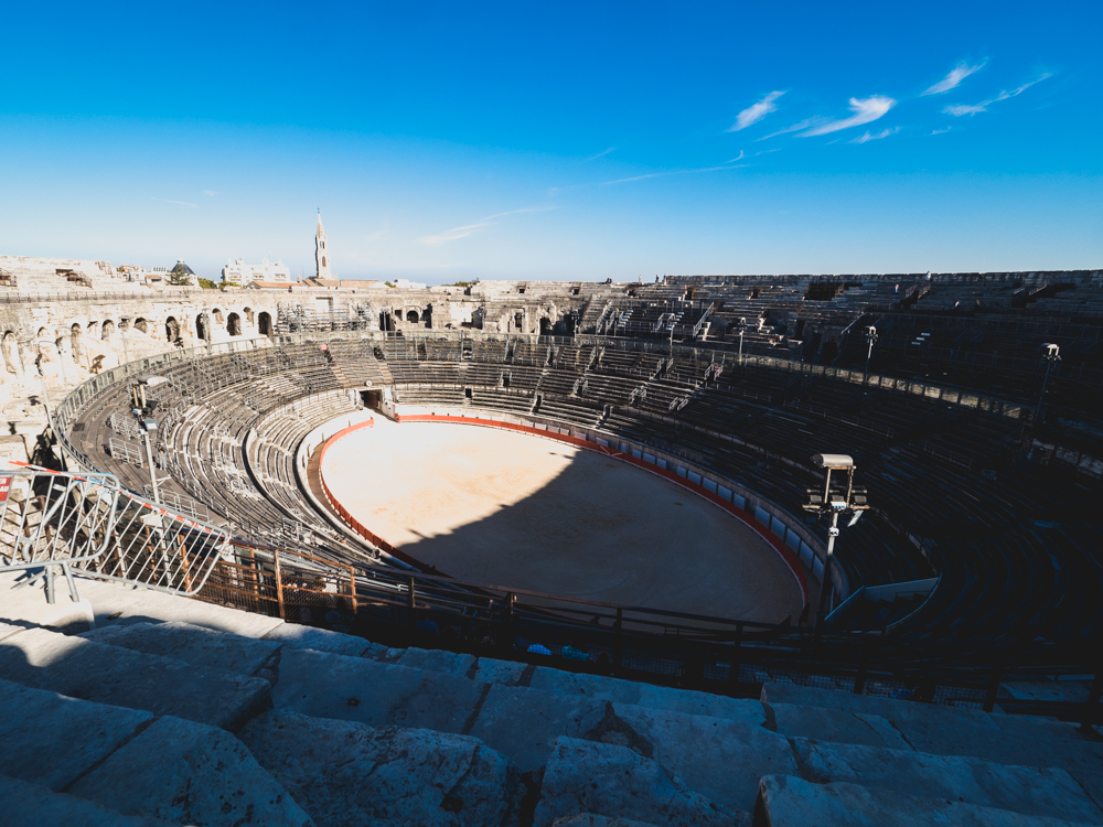 Die römische Arena in Nîmes
