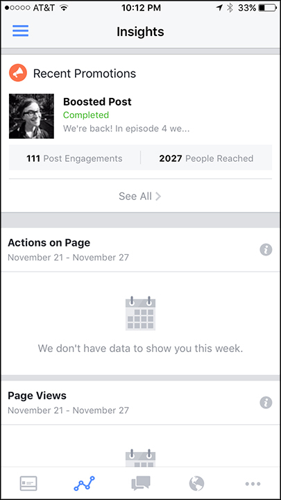 Analytics for FB fan page