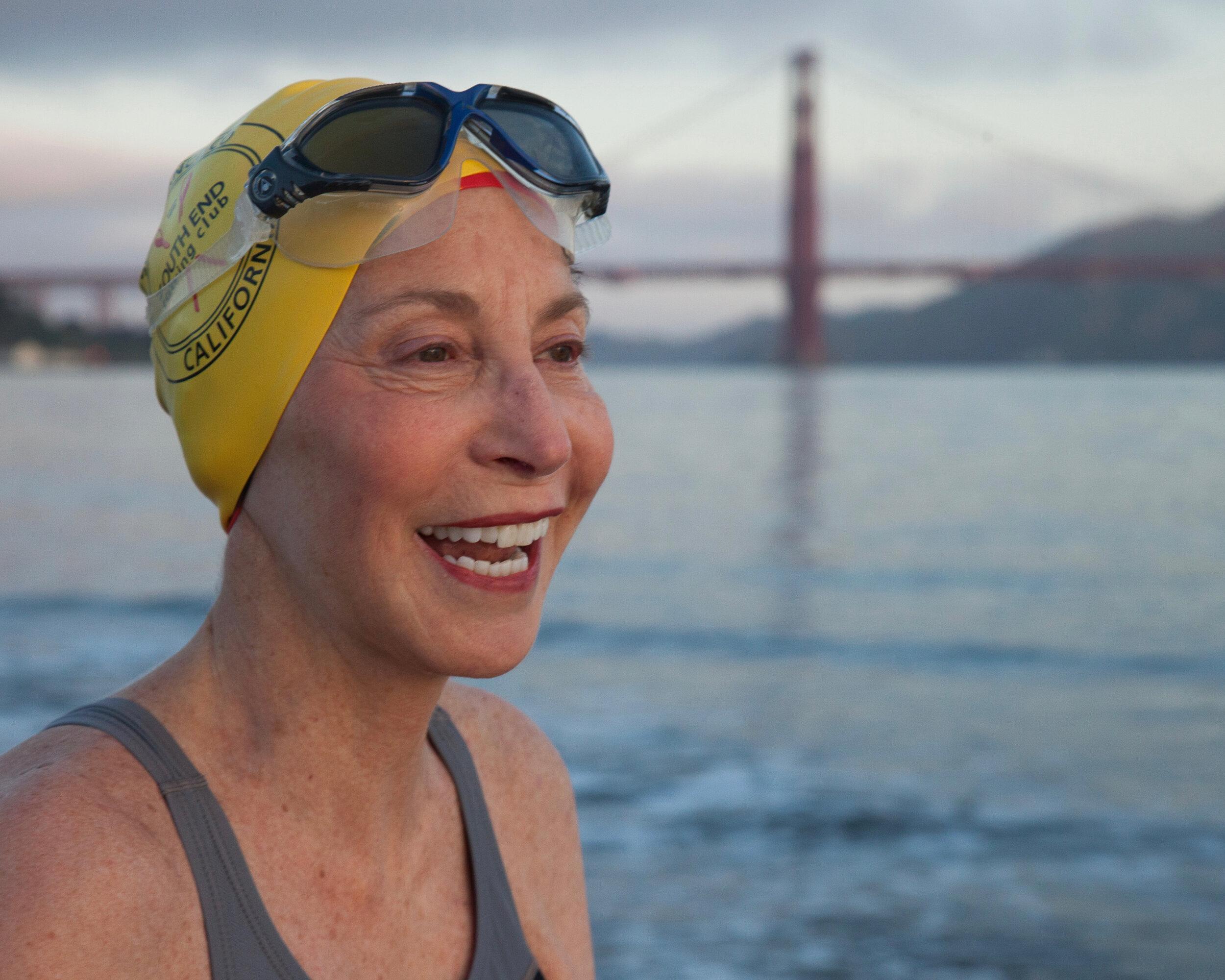 Roberta Guise, Principal Guise Marketing + PR San Francisco Bay swimmer