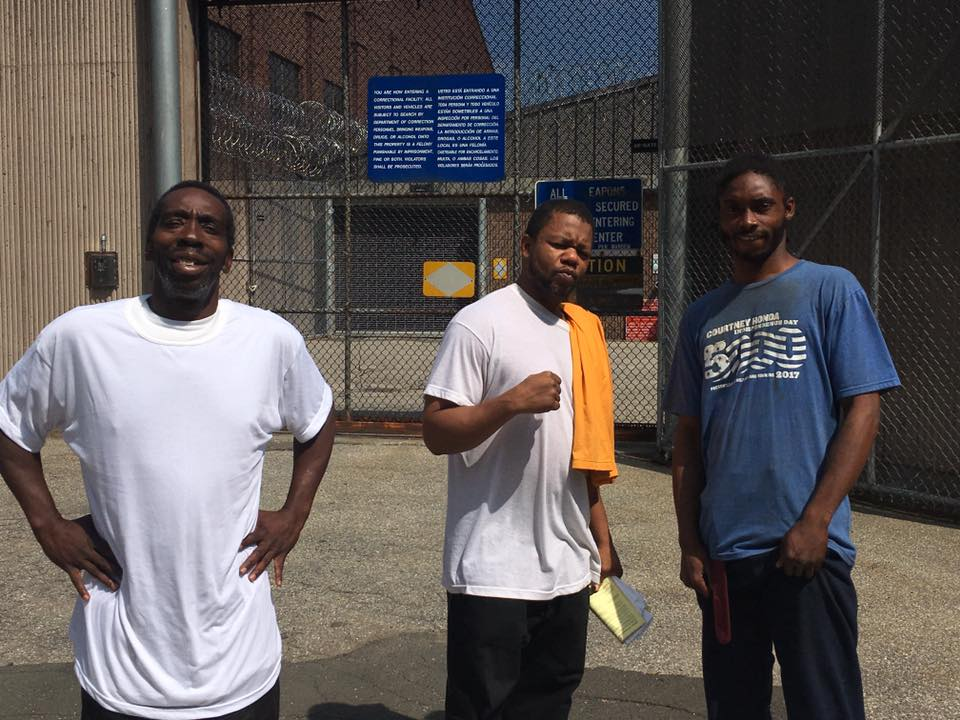 Winston, Frank, and Cleo, freed July 15