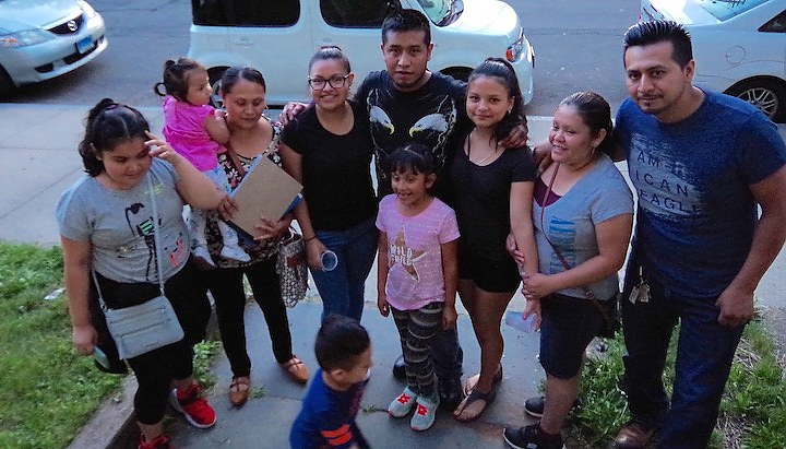 Cristian, freed June 28, and family