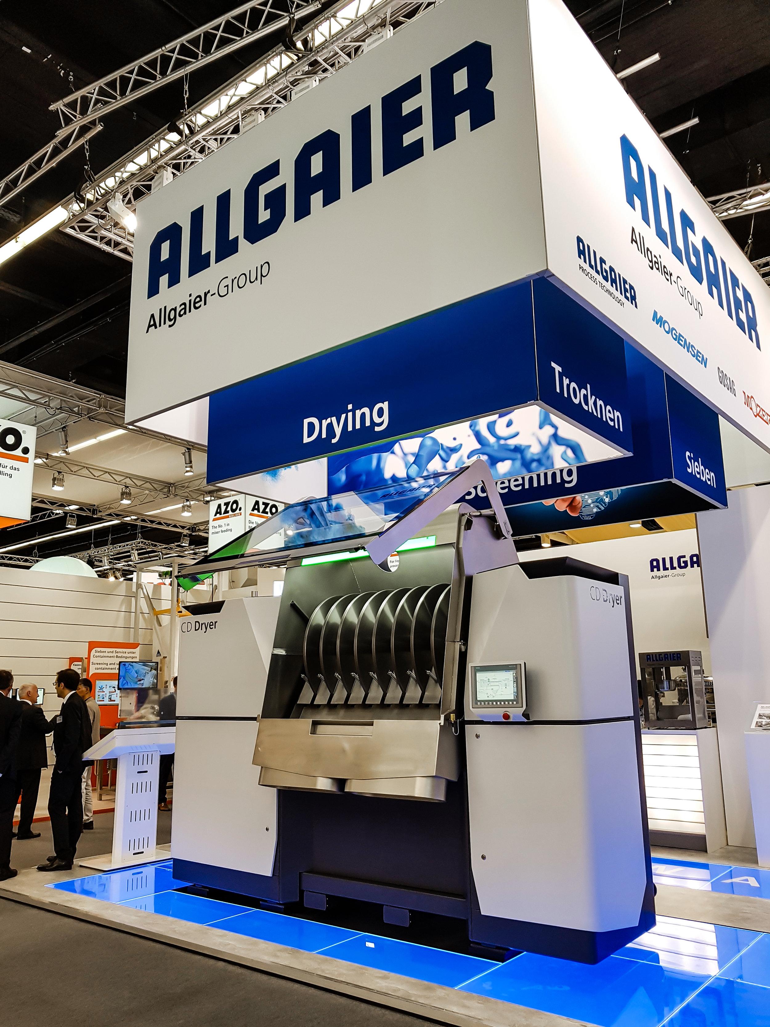 Allgaier CD Dryer at ACHEMA 2018 in Frankfurt am Main, Germany