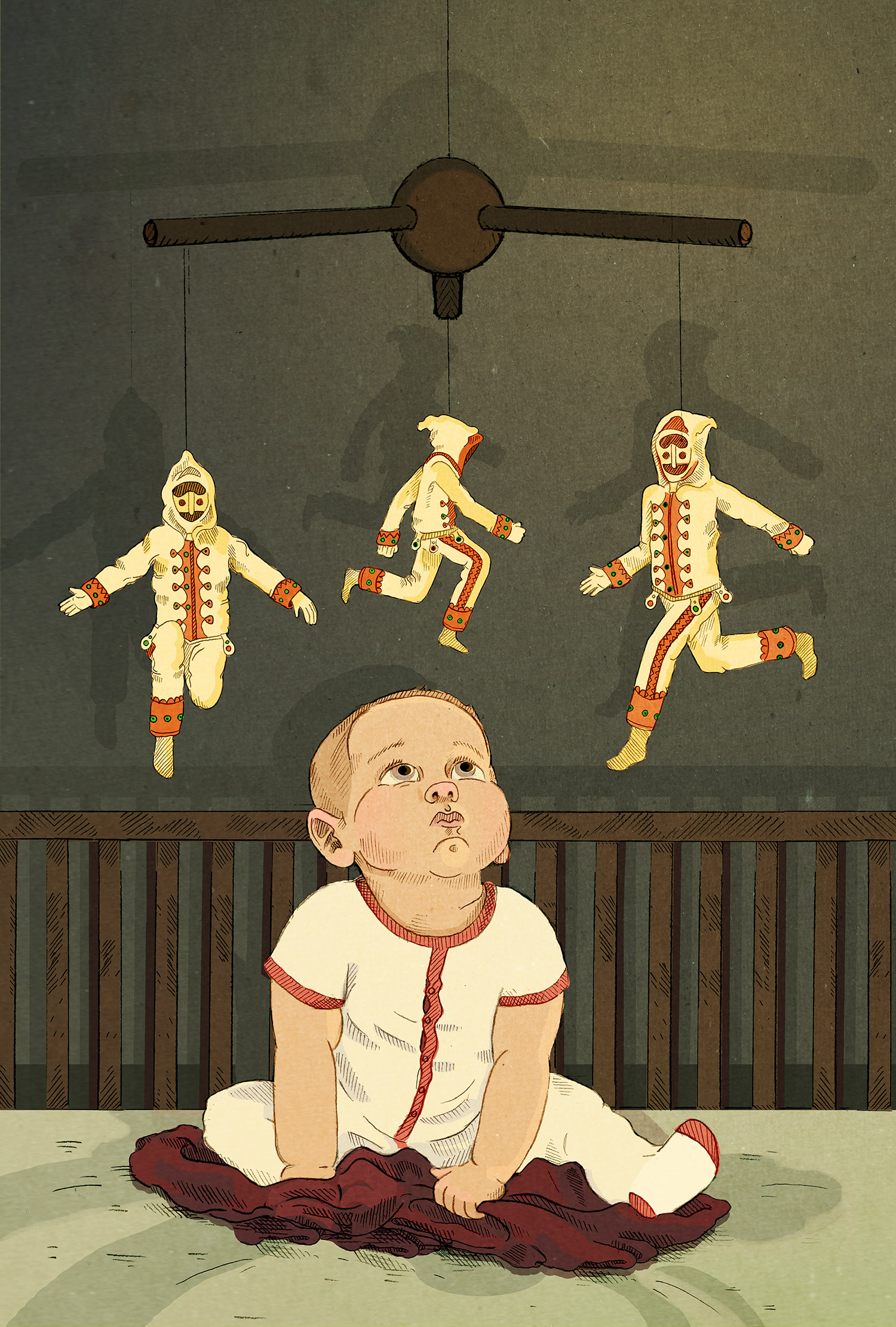 "The Spanish ""Baby Jumping"" ritual, imagined as being commodified and turned into a product."