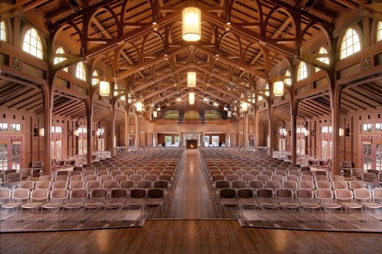 The main presentation hall at Asilomar