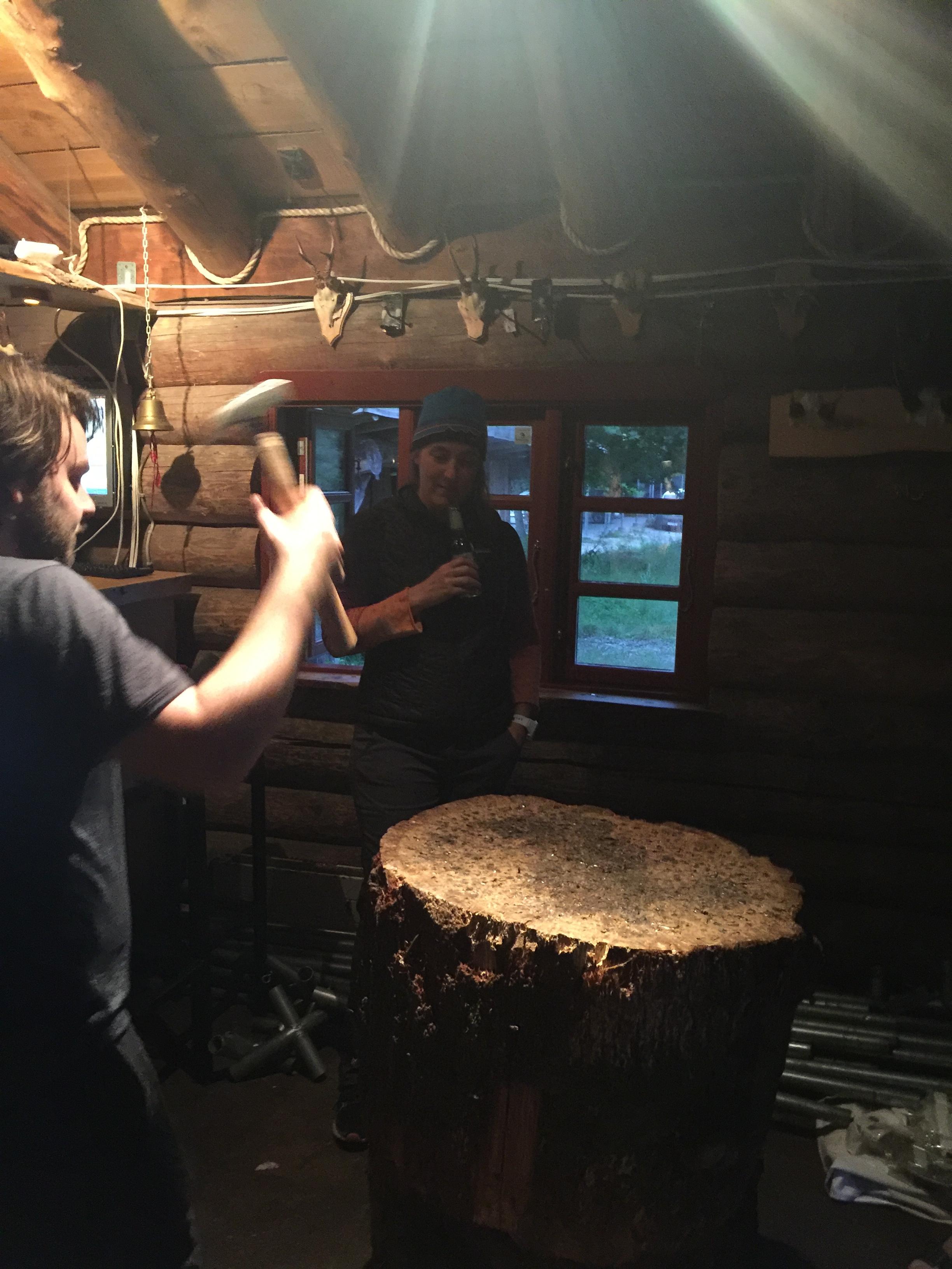 Asbjørn playing the Nail Game