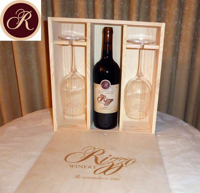 One bottle - two glass wine box