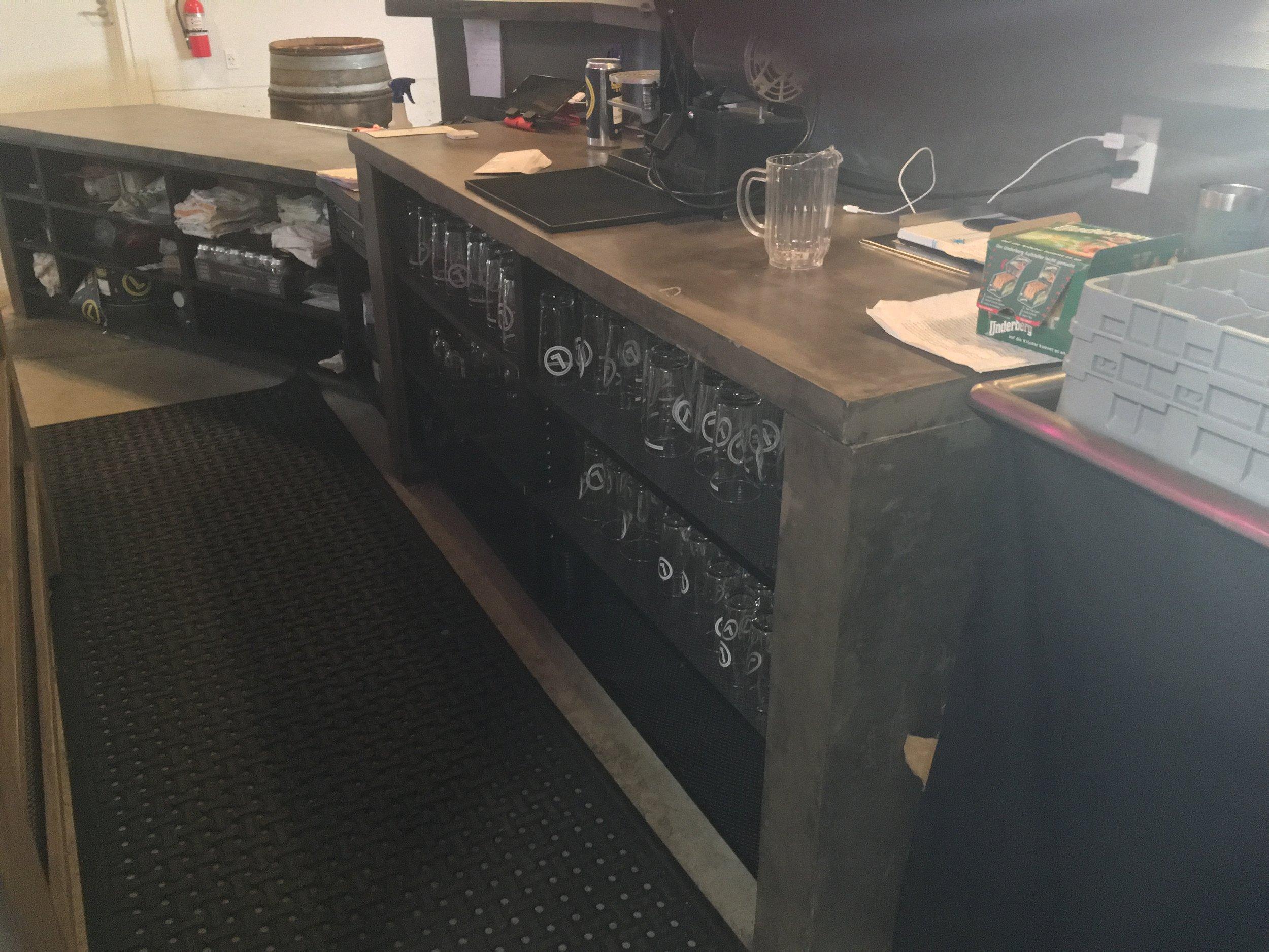 Back bar storage