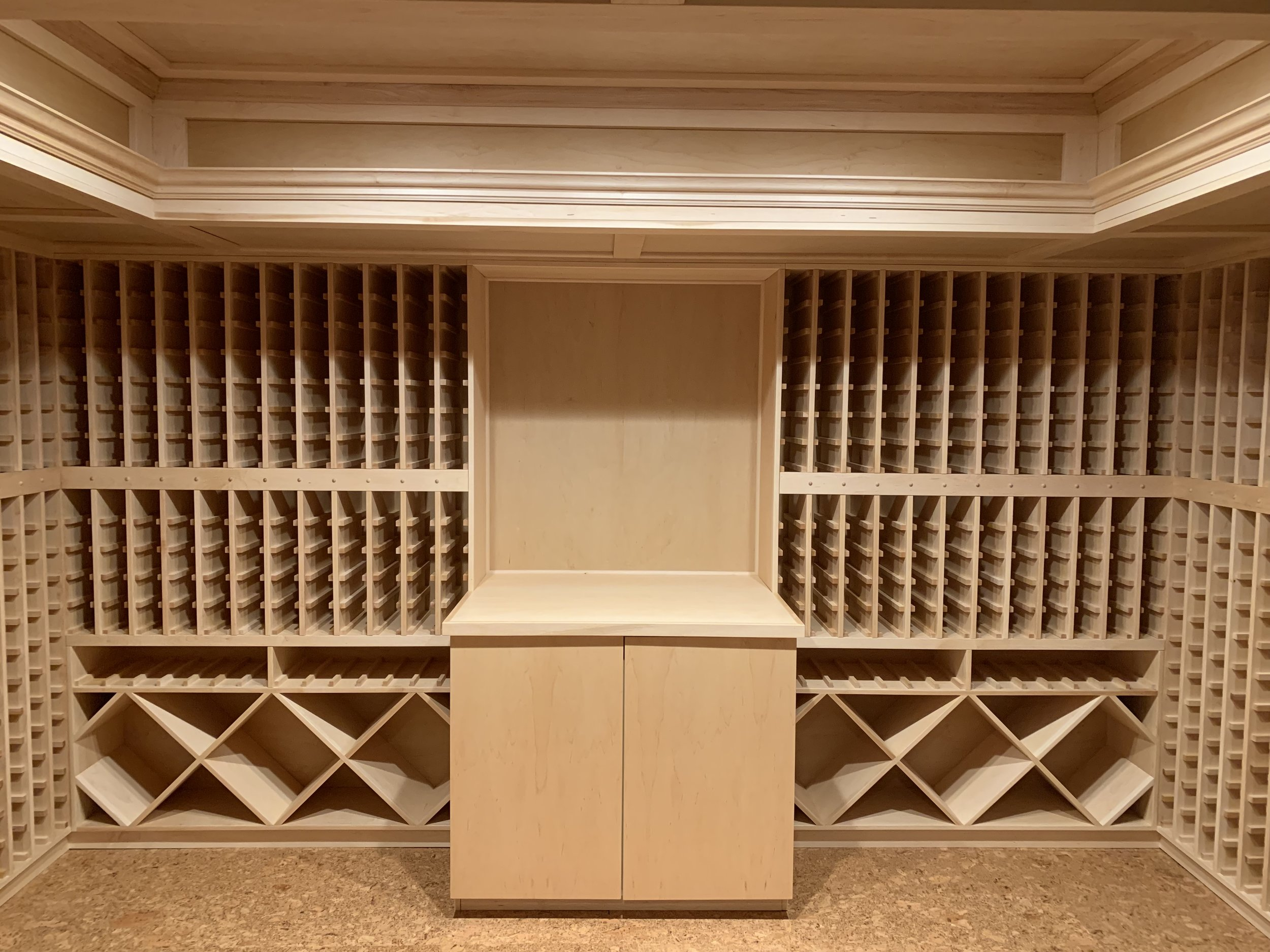 Maple wine cellar