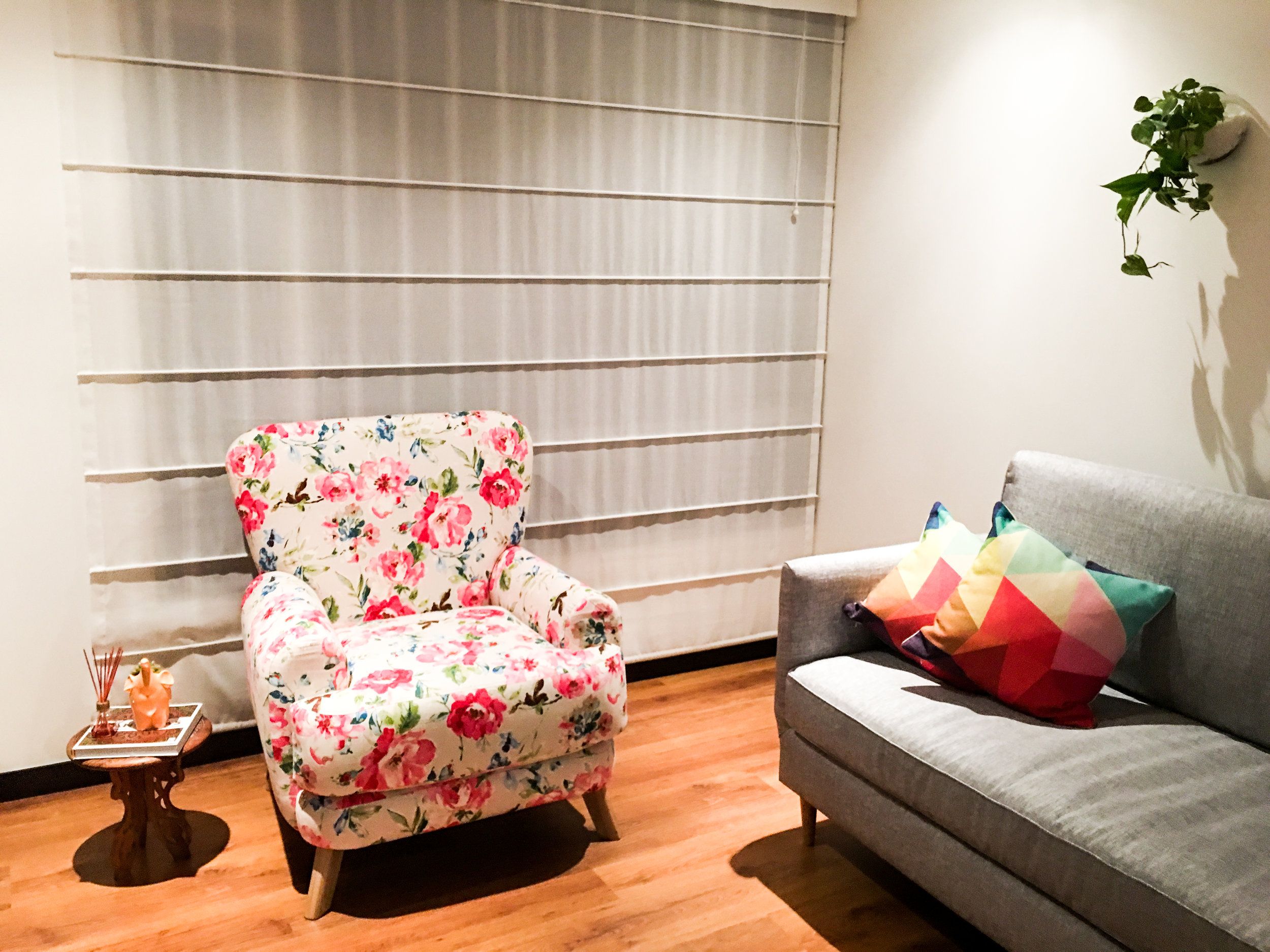 Living Room with the Polly Armchair