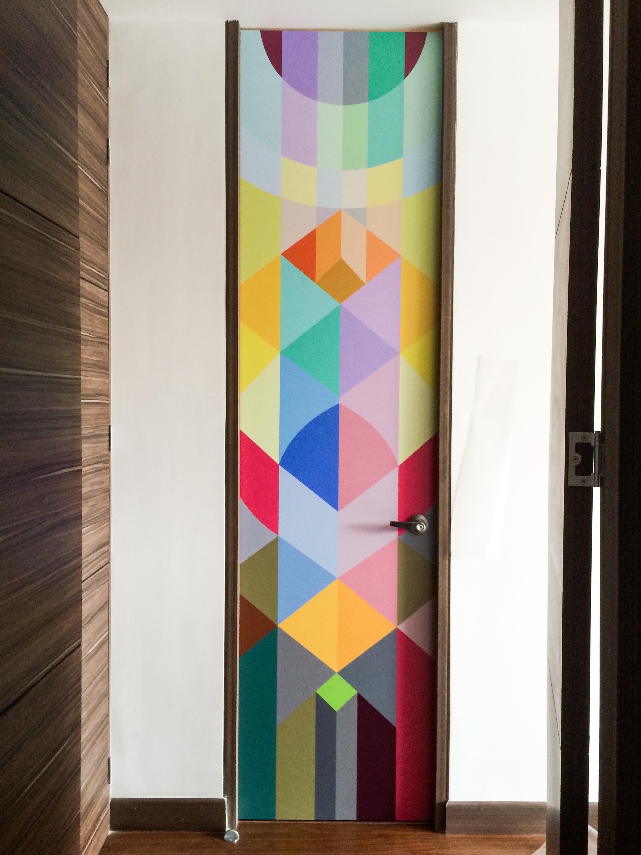Bathroom Vynil Art Graphic Pattern Decor