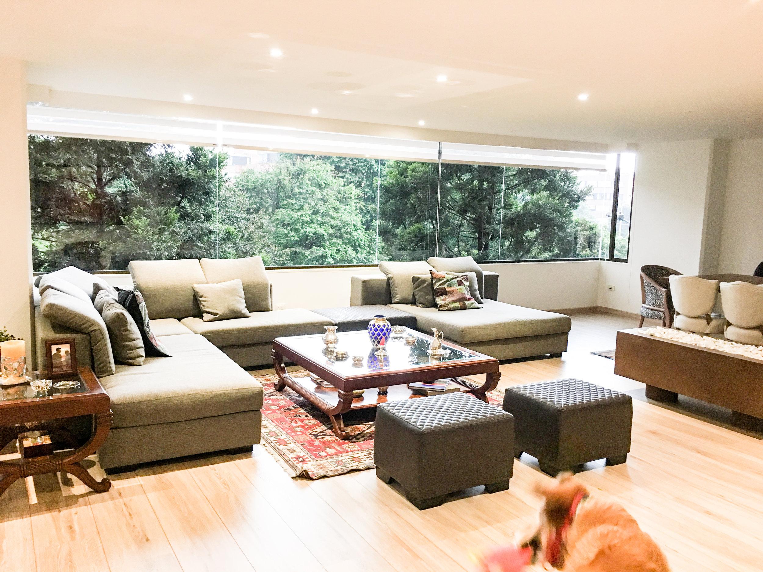 Living Room with Milano Modular Sofa