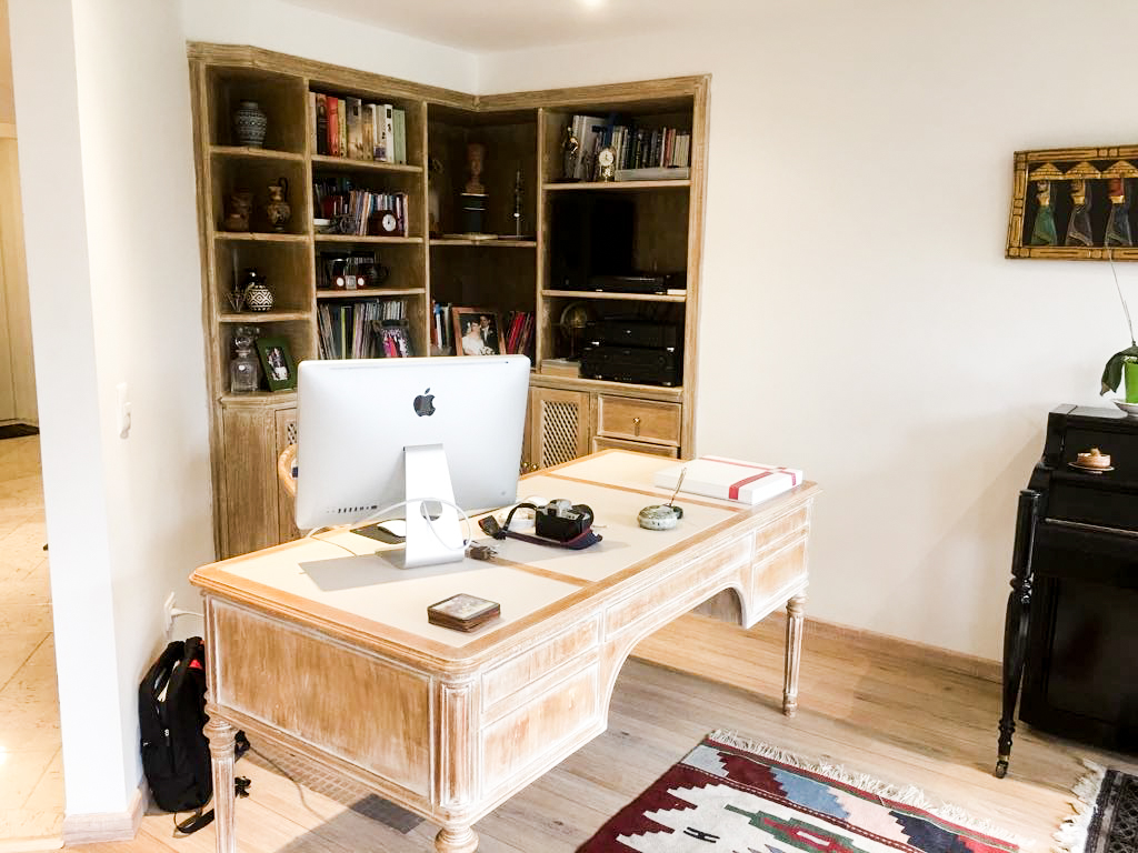 Studio Area with Restored Wood Pieces