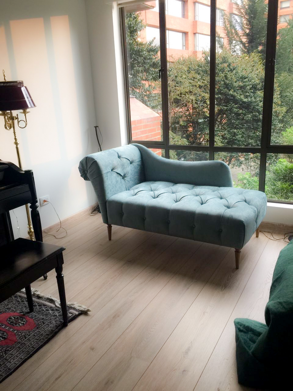 Lady Turquoise Chaise Lounge