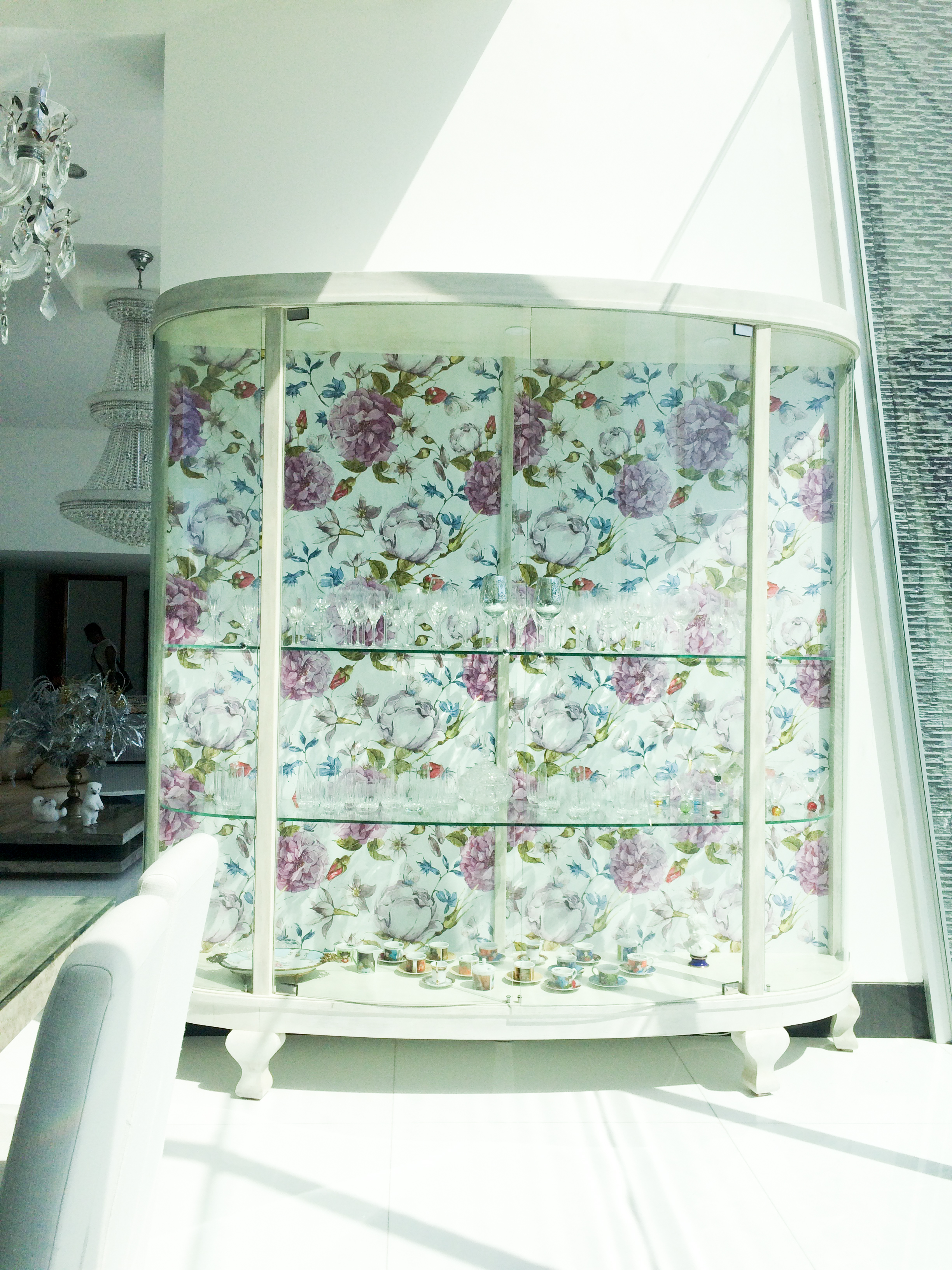 Dinning Floral Shabby Chic Console
