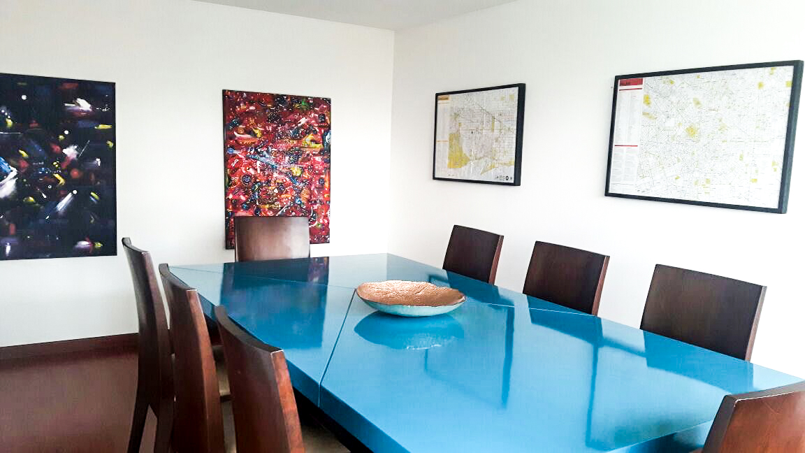 Dining Table Pieace of Cake Bright Blue