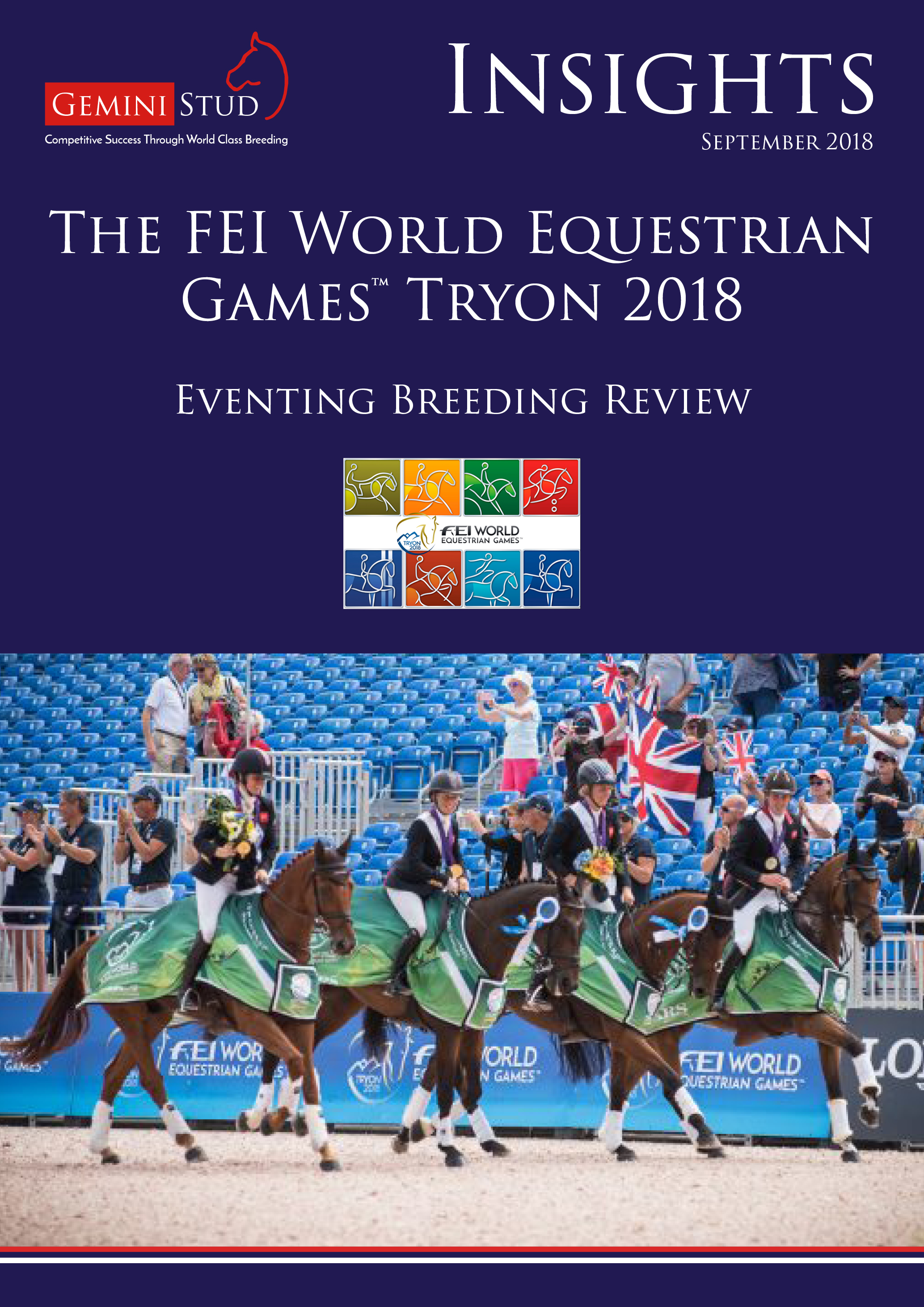 Wildfire Gemini Stud Insight Newsletter FEI WEG Tyron Breeding Review 2018