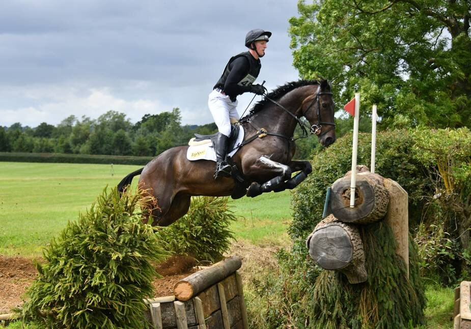 Daniel Scott riding the 8 year old Something Classical in the 8 & 9 year old Advanced Class at Aston Le Walls in the summer of 2019