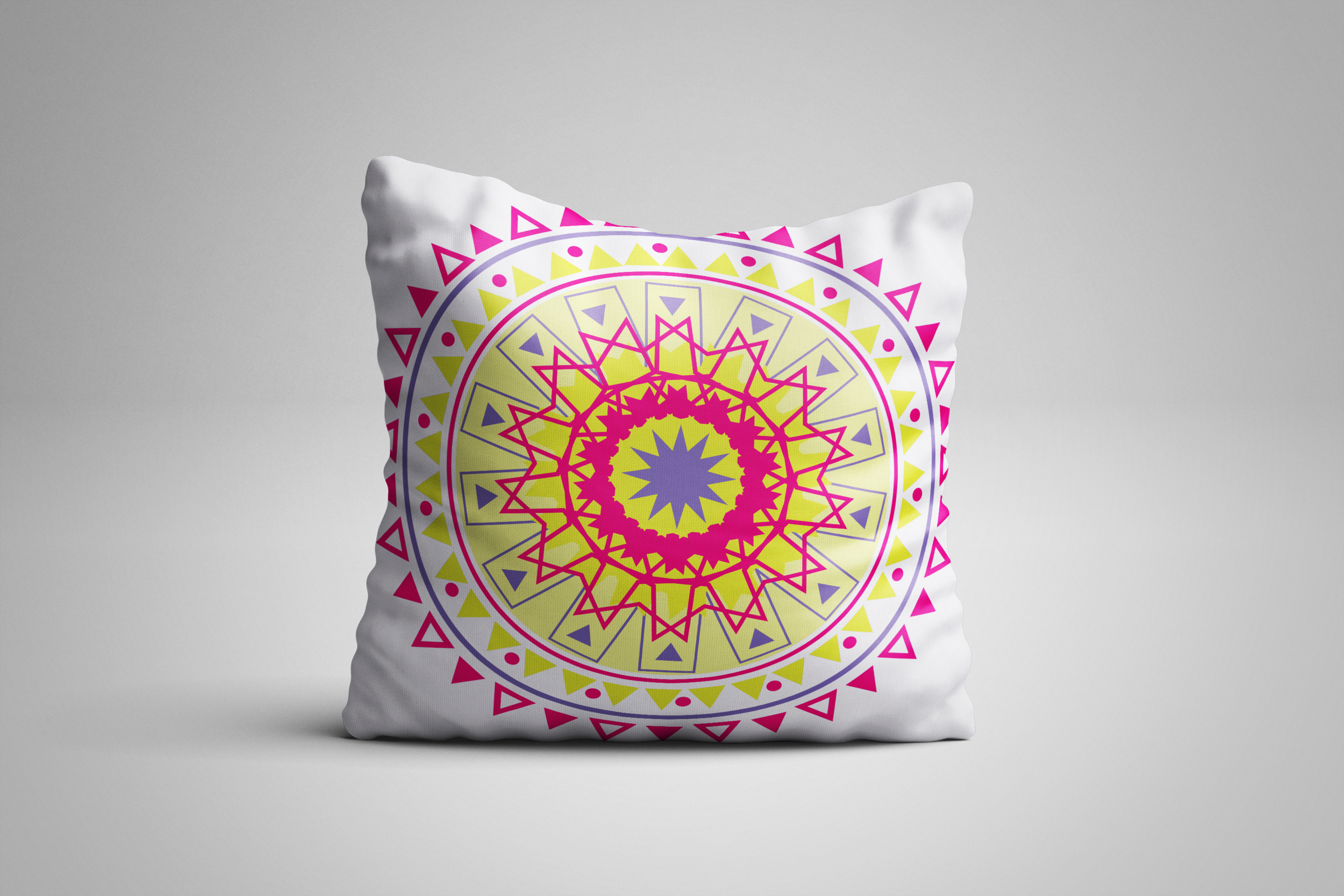 Green pink square pillow.png