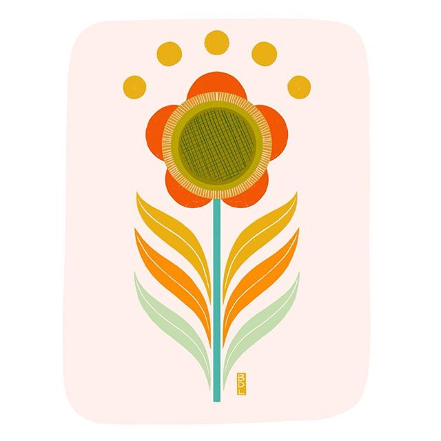 Cutie flower I finished last minute (always 🙃) for tomorrow's event- see previous post! Will be available as a print and greeting card 🌿🌻✨made with @procreate on my #ipadpro . . . . #shopsmall #shoplocal #indy #indianapolis  #greetingcards #holidaygifts #christmas #shopping #supportlocal #supportartists #procreateapp #procreate #procreateart  #symmetry #ipadart #digitalart #brittdemarisart #flower #illustration #design #artlicensing #retro #throwback #mod #vintage #artistsoninstagram #art #art_we_inspire #craftsposure @indieanahandicraftexchange