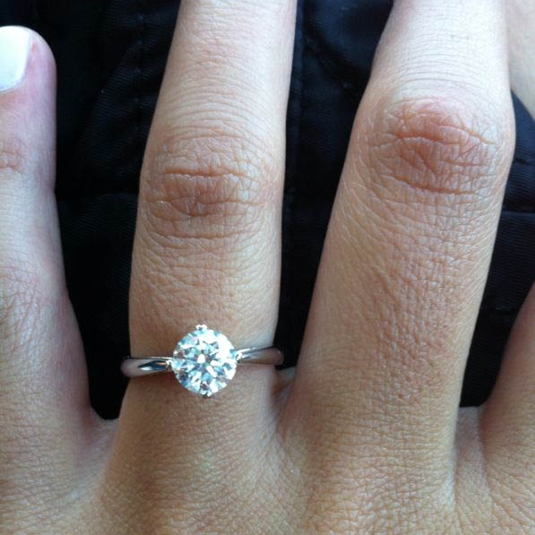The first piece Danielle designed, this engagement ring for her best friend
