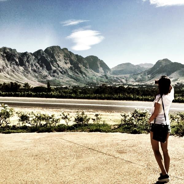 Danielle in her favorite city, Cape Town