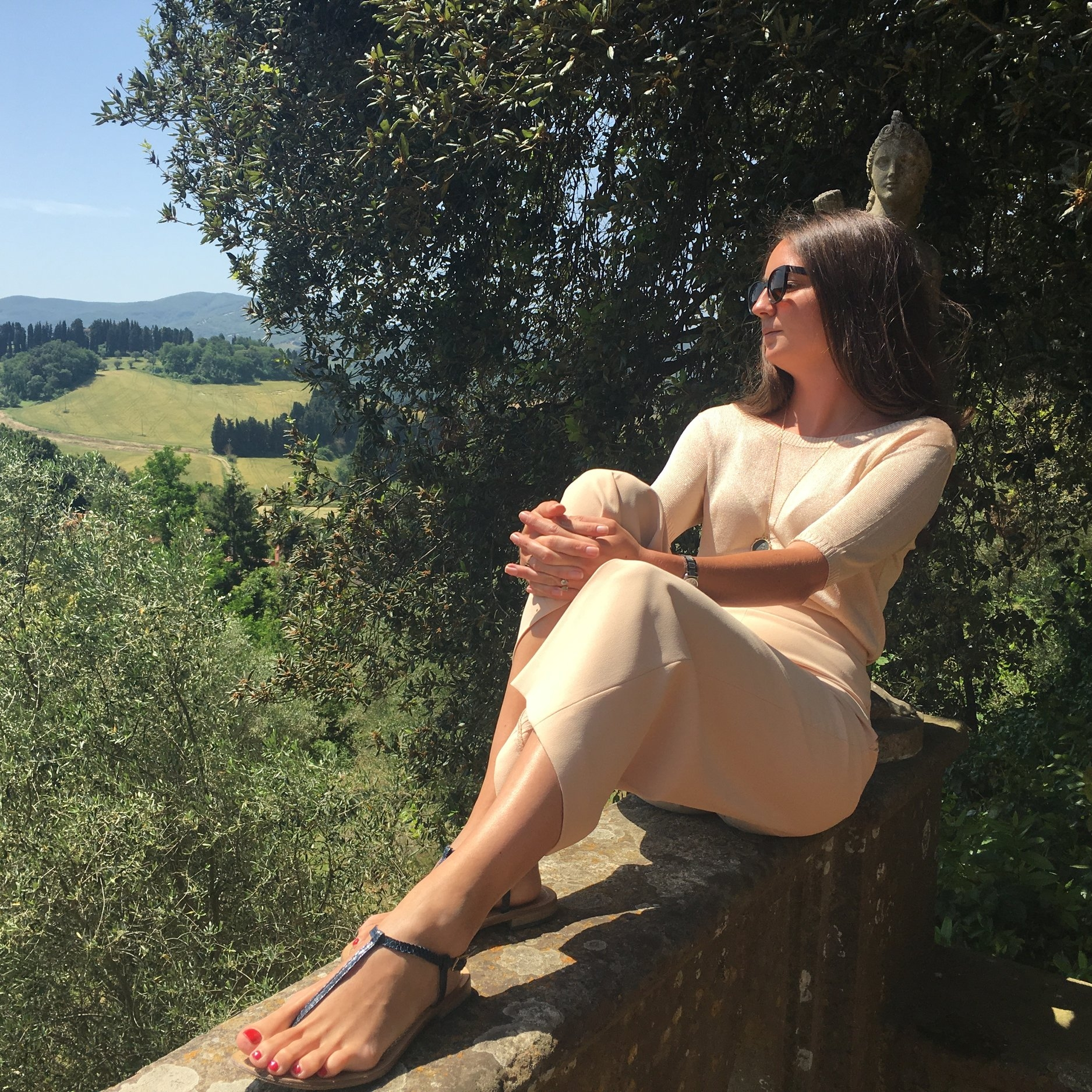Benedetta in her favorite vacation spot, Lucca, Tuscany