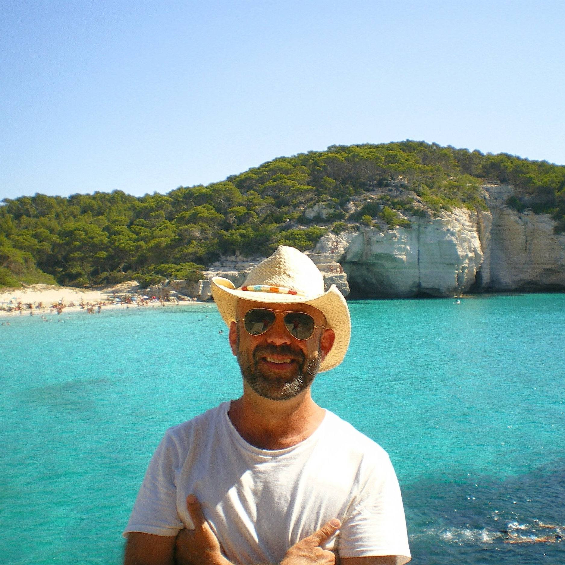 Claudio in his favorite vacation spot, Menorca