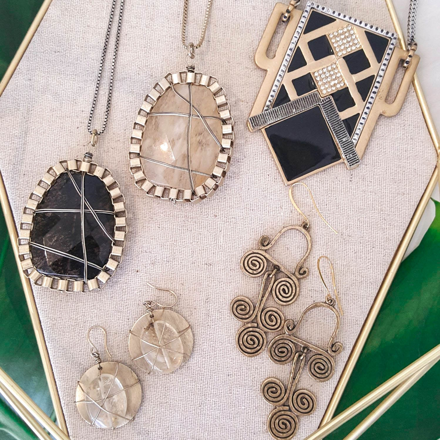 Cocoacentric statement necklaces and earrings