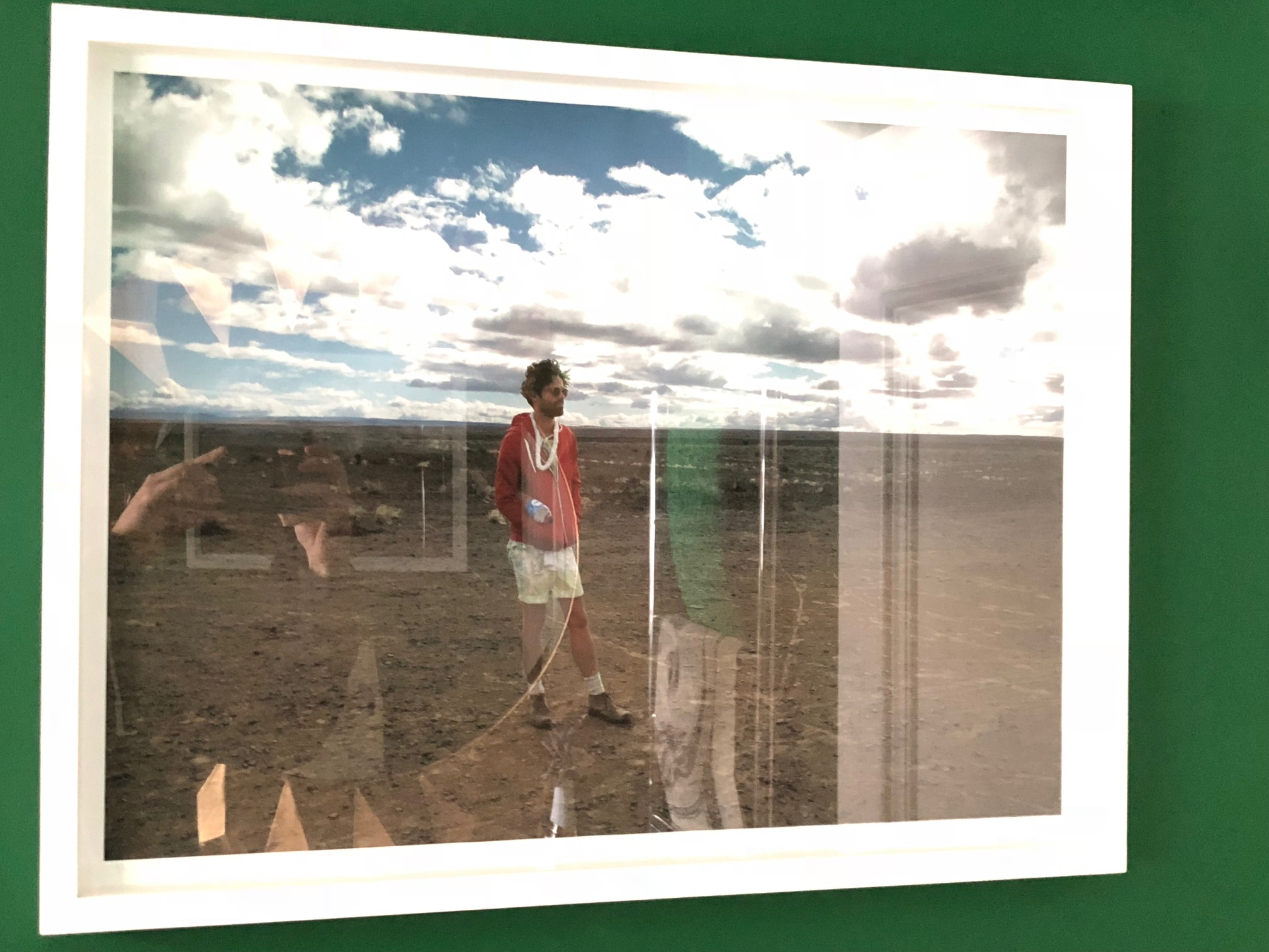 Kurt's favorite piece of art: A photograph by his dear friend, Gabrielle Guy, of Kurt at Afrikaburn