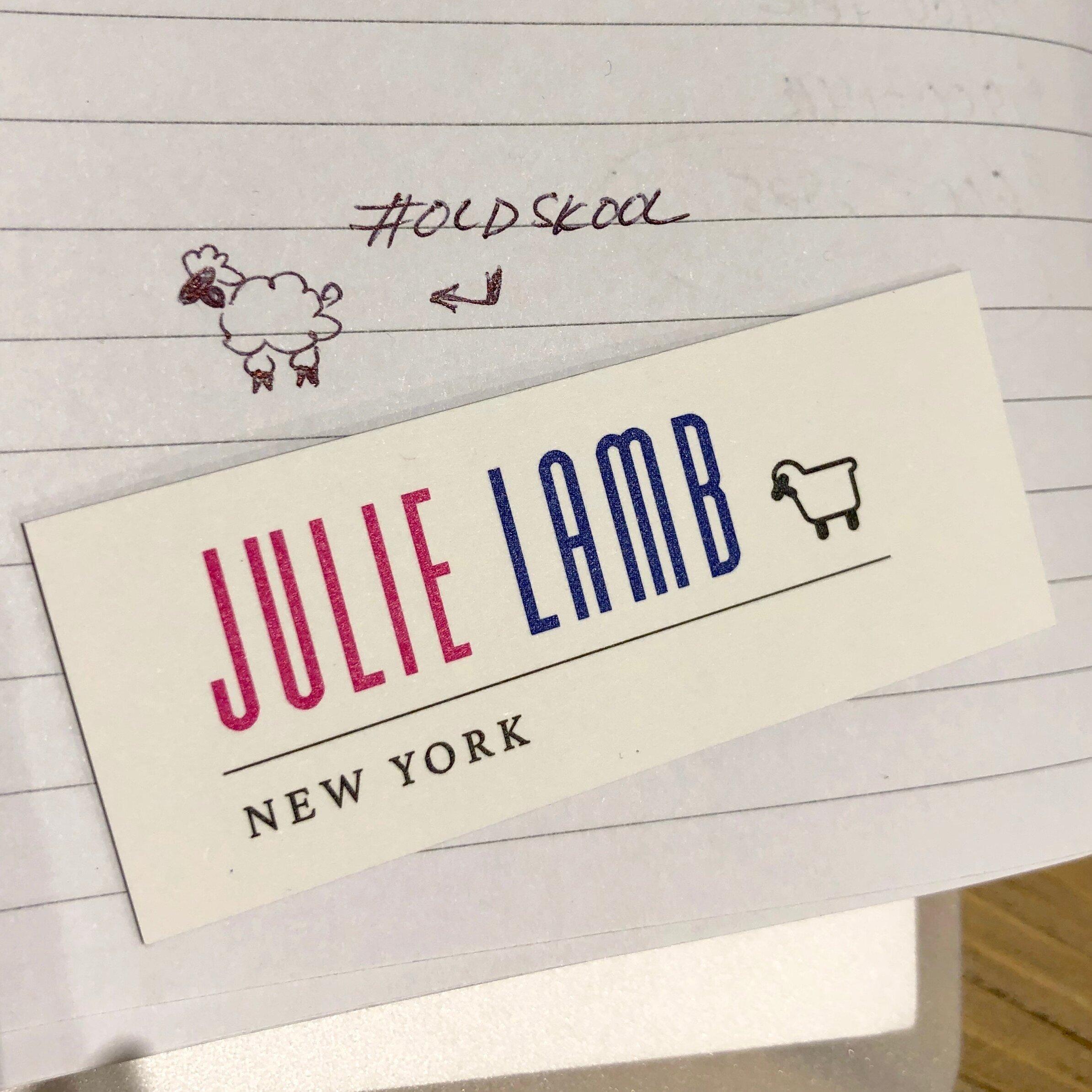 Julie's logo evolution