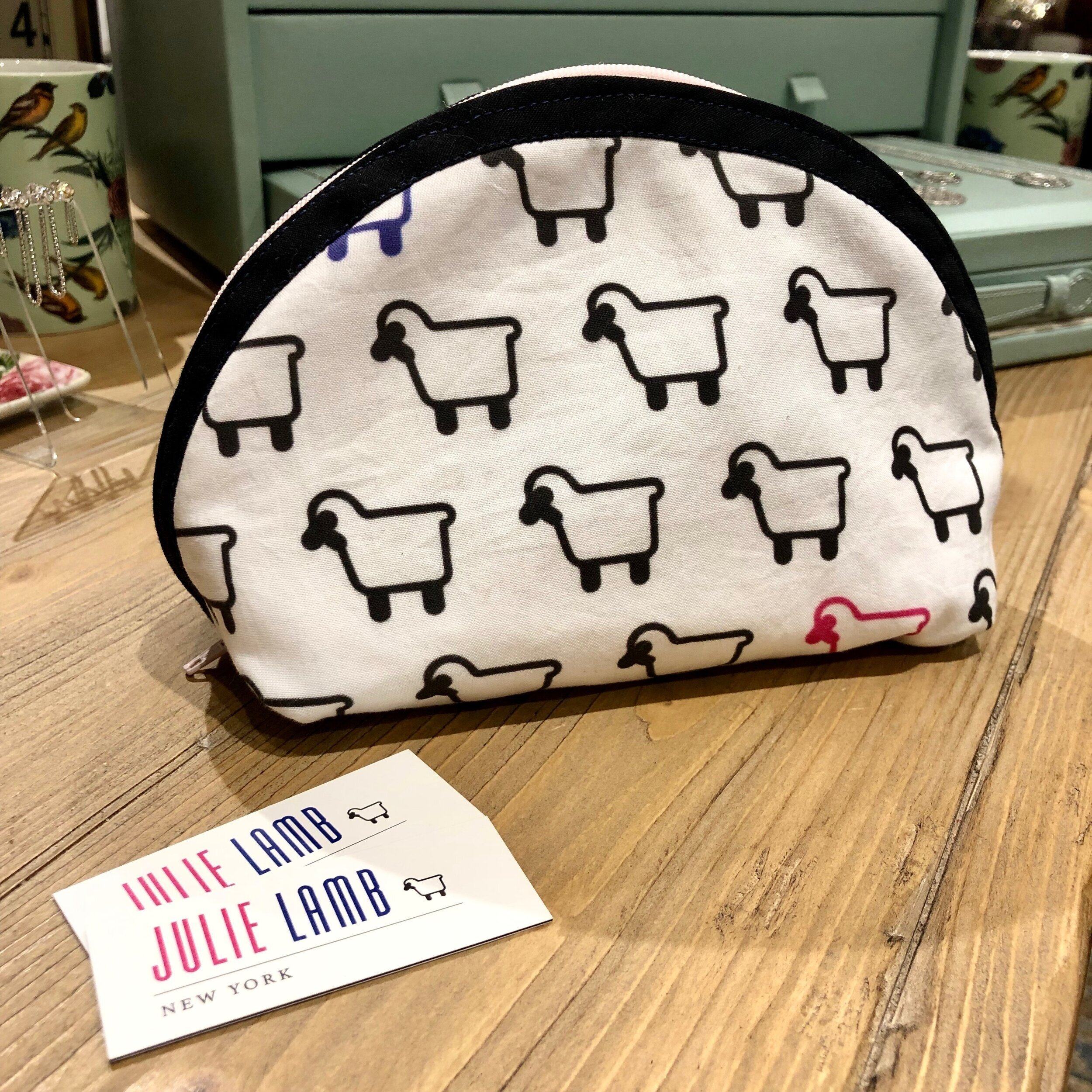 The best gift Julie has received recently: this handmade pouch from one of her Lambassadors