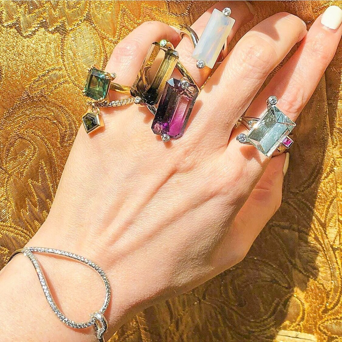 Julie's happy jewelry: her one of a kind statement ring and bespoke pieces