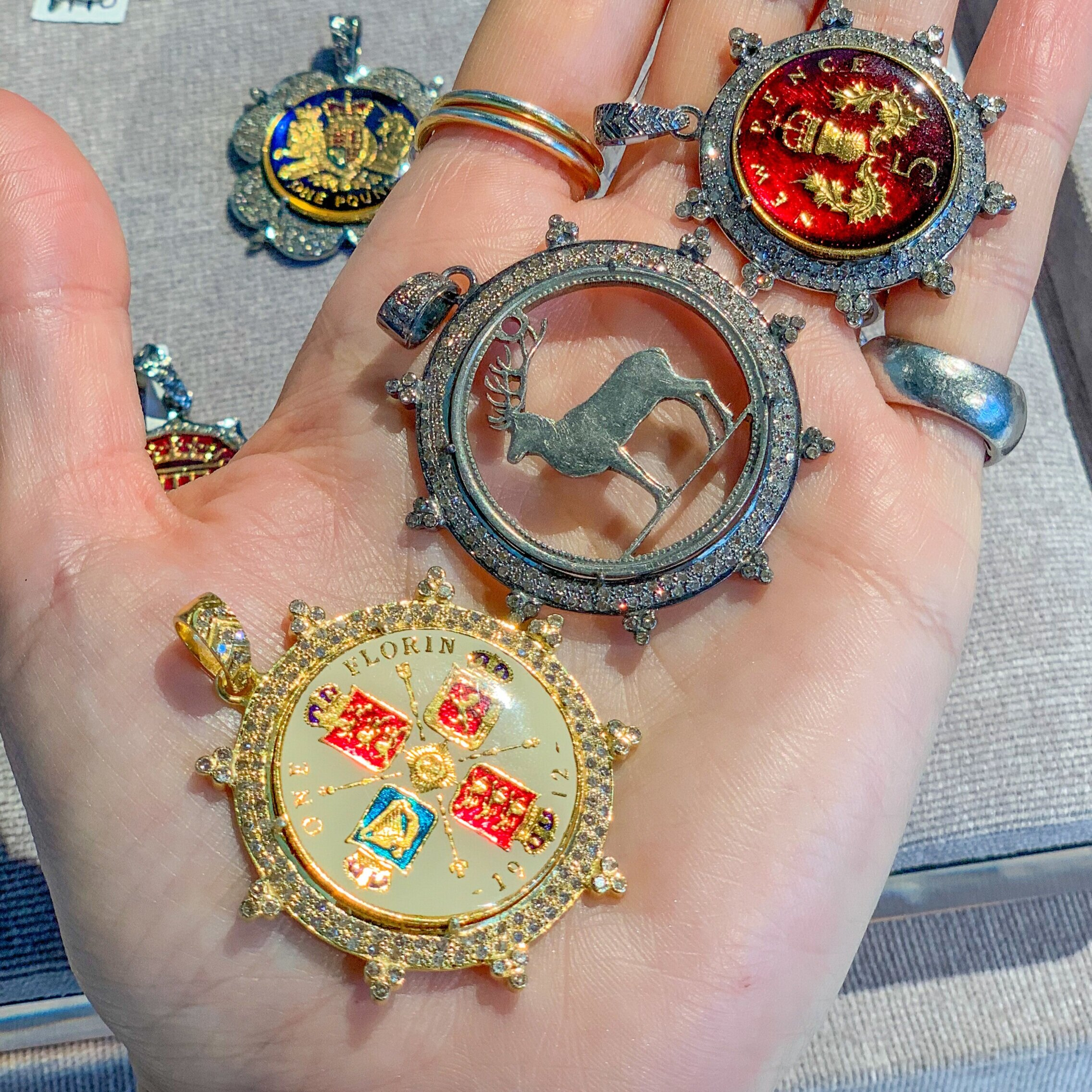 Kara's happy jewelry: Her vintage coin pendants