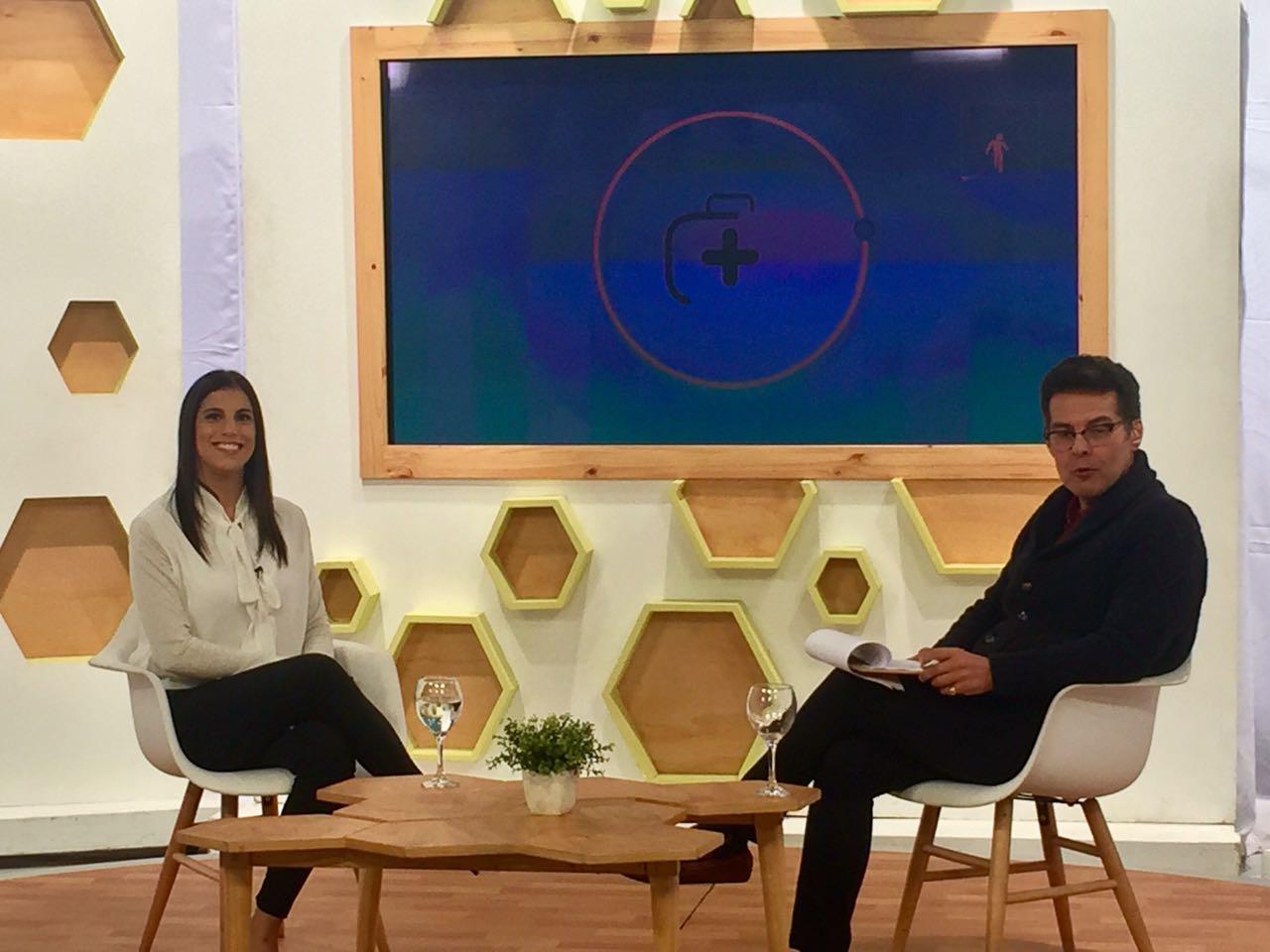 Detrás de cámaras en el Consultorio de la Buena Vida junto con el Dr. Recoba para Plus Tv