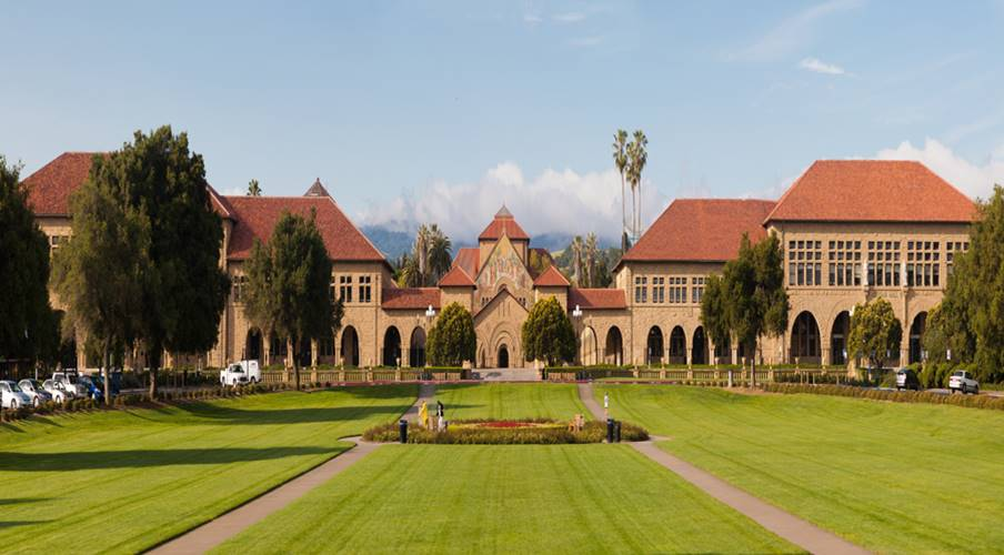 View of  Stanford University  from the Oval.