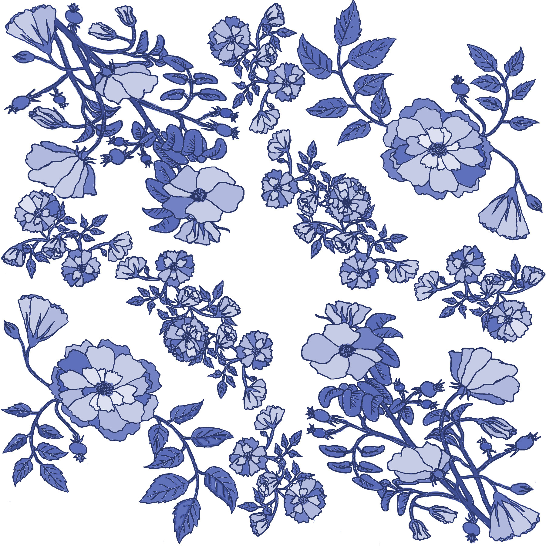 Rose pattern section blue china.jpg