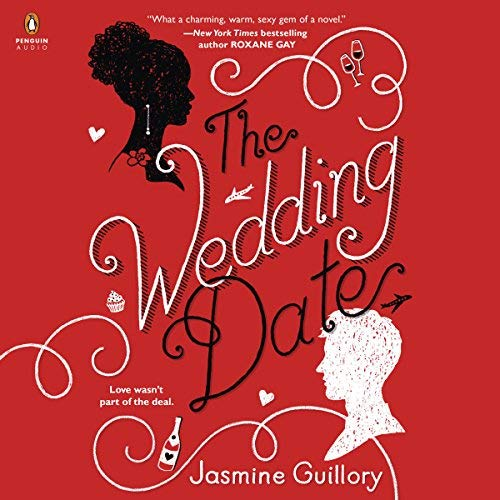 "Written by Jasmine Guillory  Narrated by Janina Edwards   Publisher's Summary – The Wedding Date  A groomsman and his last-minute guest are about to discover if a fake date can go the distance in this fun and flirty multicultural romance debut by New York Times best-selling author Jasmine Guillory.  The USA Today best seller  #5 LibraryReads Pick  ""A swoony rom-com brimming with humor and charm."" [Entertainment Weekly (The Must List)]  ""What a charming, warm, sexy gem of a novel.... One of the best books I've read in a while."" (Roxane Gay, New York Times best-selling author of Hunger )   Agreeing to go to a wedding with a guy she gets stuck with in an elevator is something Alexa Monroe wouldn't normally do. But there's something about Drew Nichols that's too hard to resist.    On the eve of his ex's wedding festivities, Drew is minus a plus one. Until a power outage strands him with the perfect candidate for a fake girlfriend...    After Alexa and Drew have more fun than they ever thought possible, Drew has to fly back to Los Angeles and his job as a pediatric surgeon, and Alexa heads home to Berkeley, where she's the mayor's chief of staff. Too bad they can't stop thinking about the other...    They're just two high-powered professionals on a collision course toward the long-distance dating disaster of the century — or closing the gap between what they think they need and what they truly want..."