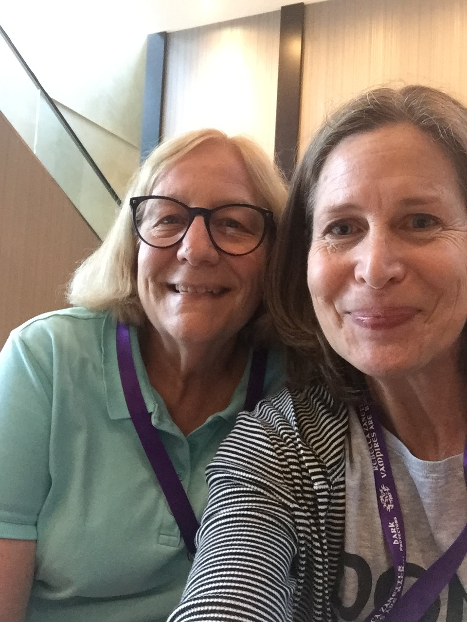 Meeting authors we've narrated for, like Barbara Longley (with Karen).