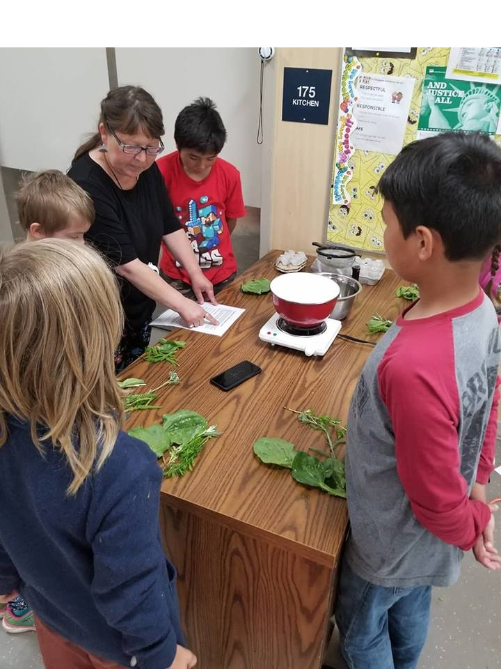 Learning about traditional herbs at  Culture Camp , Dillingham