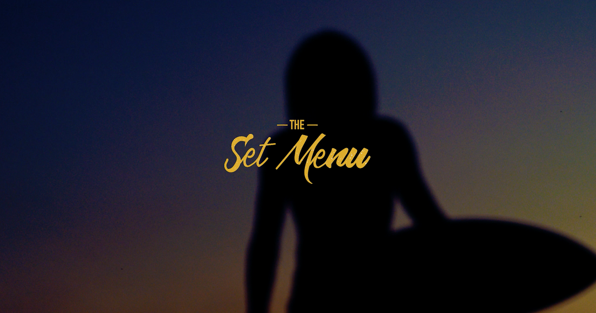 THE SET MENU - A FILM BY DARCY WARD