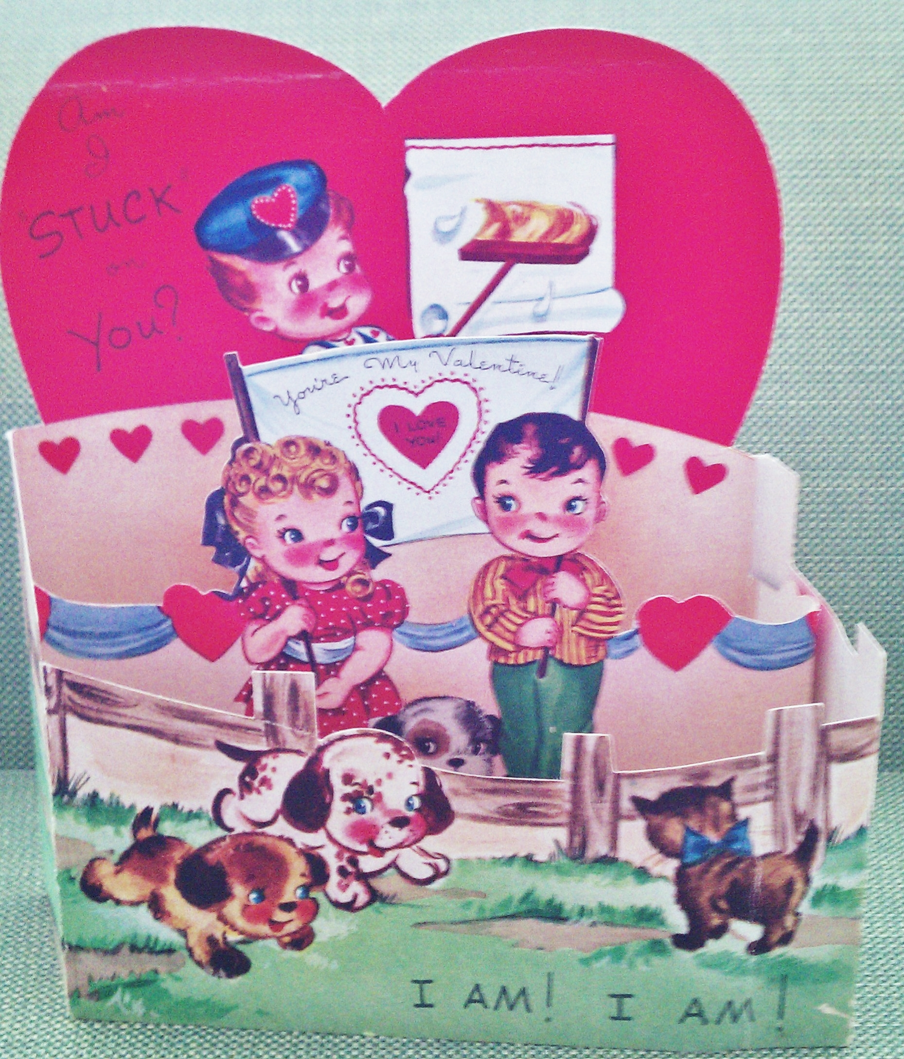 This very large fold out Valentine was saved in my baby book.