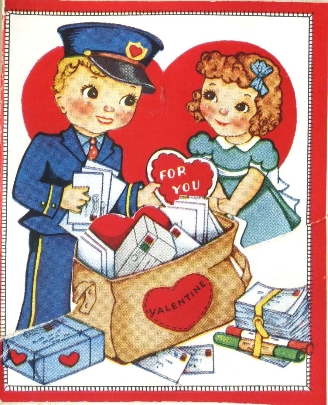 1940s Valentine saved in my baby book.