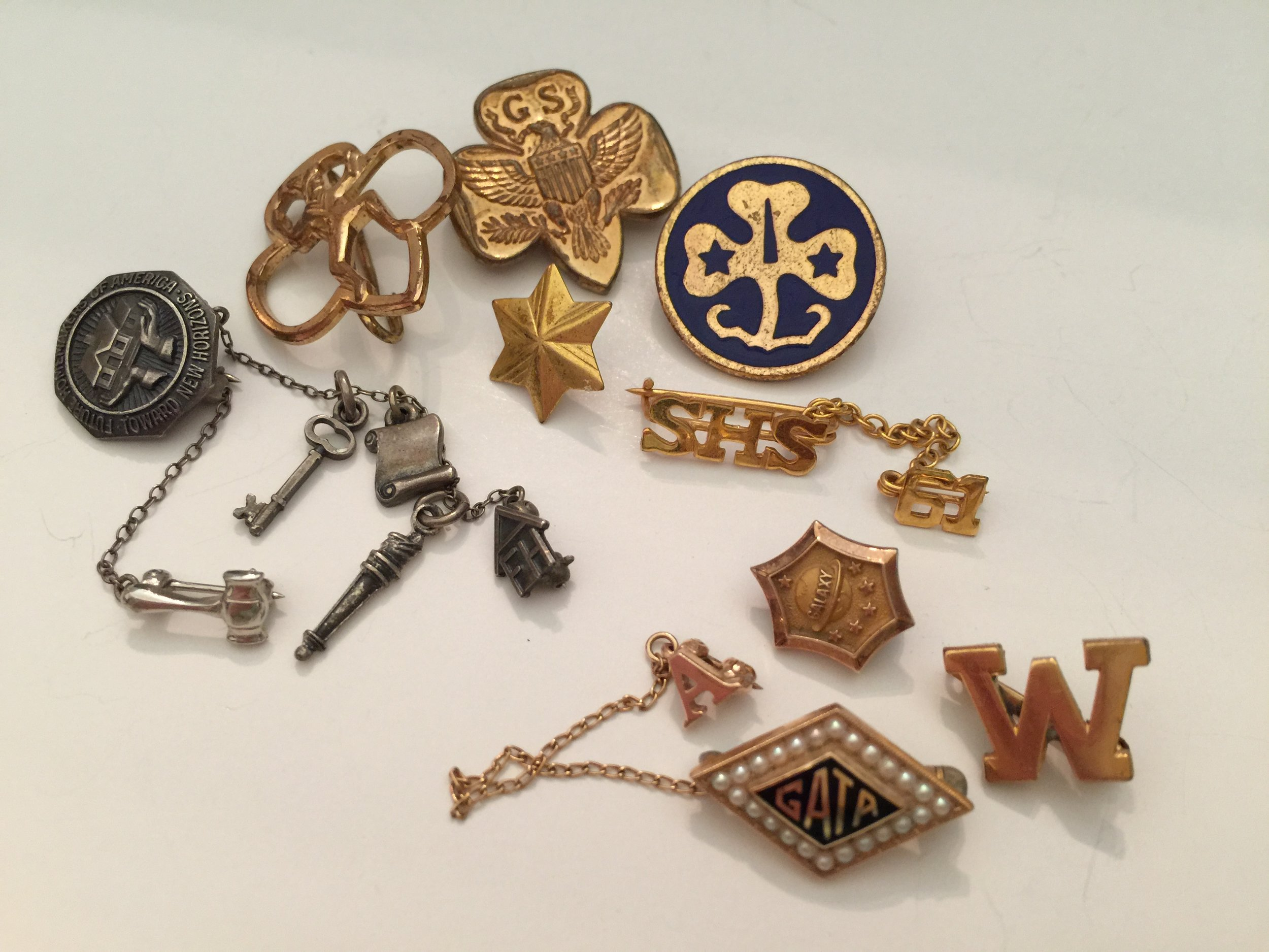 Club pins that span elementary school, high school and college ... all bring pleasant memories.