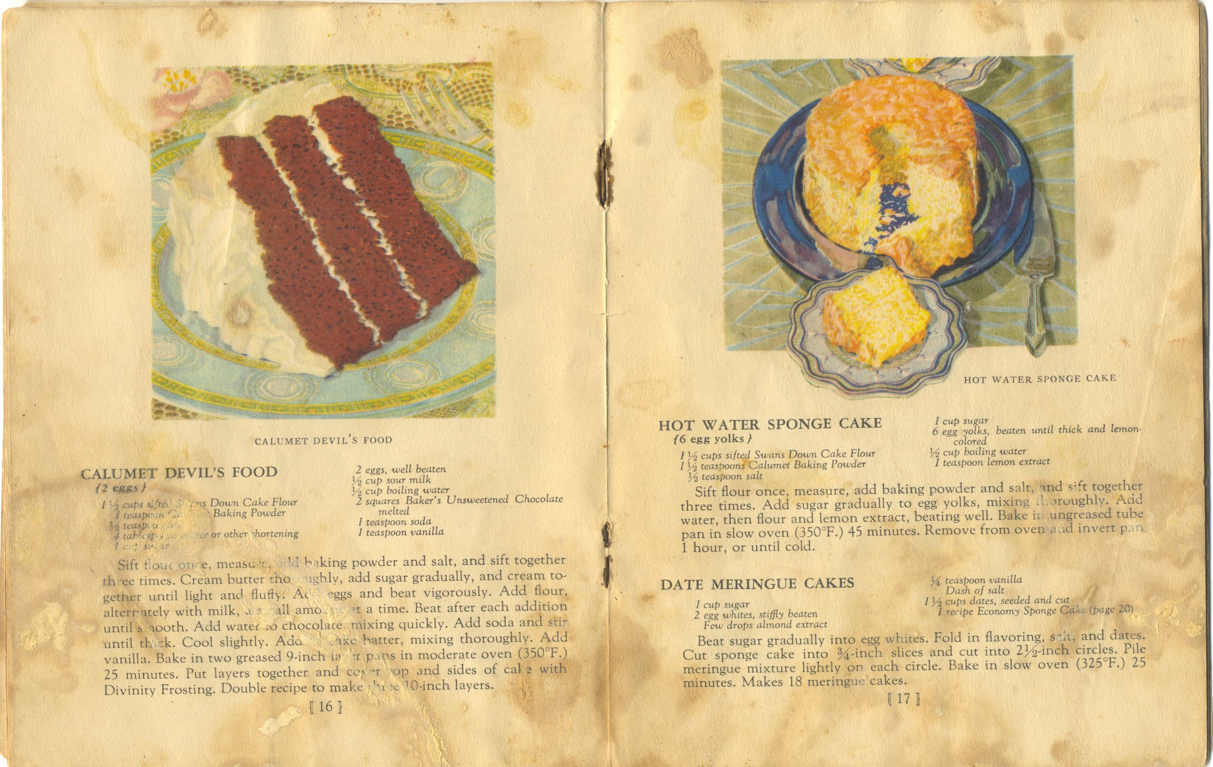 Illustration from the 1929 Calumet Baking Book