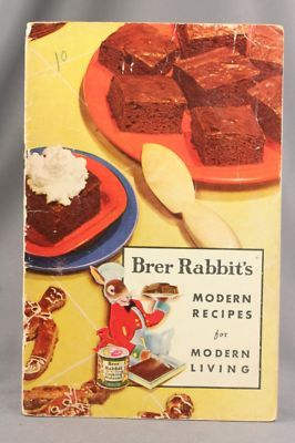 Brer Rabbit's Modern Recipes for Modern Living ... undated ... I love ginger snap cookies and gingerbread made with molasses