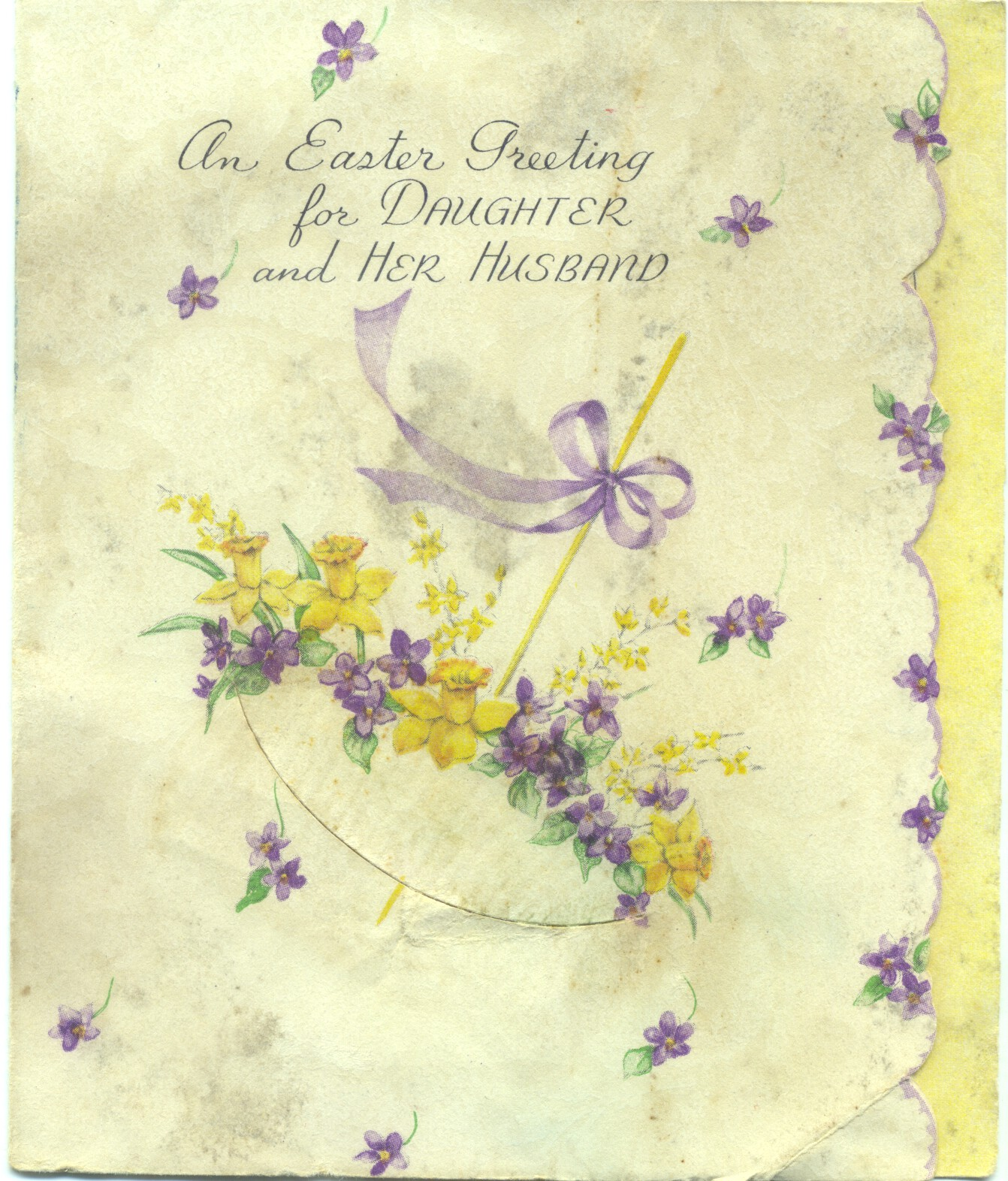 A 1944 Rust Craft greeting card to my mother and father from Mother's family