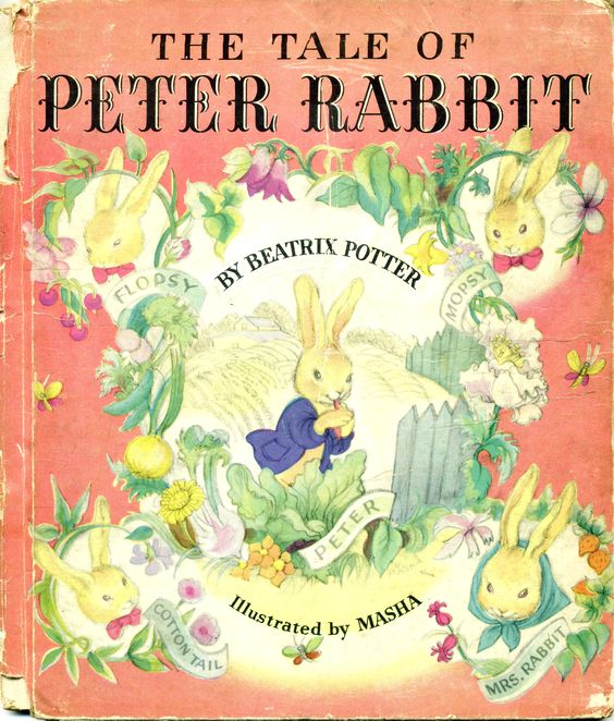 The Tale of Peter Rabbit Illustrated by Masha, 1942 ... from my large collection of antique children's books