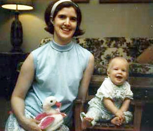 1968 with my first daughter Lisa